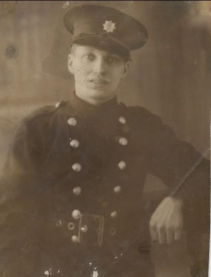 Emrys Henry Street in his Fireman's Uniform