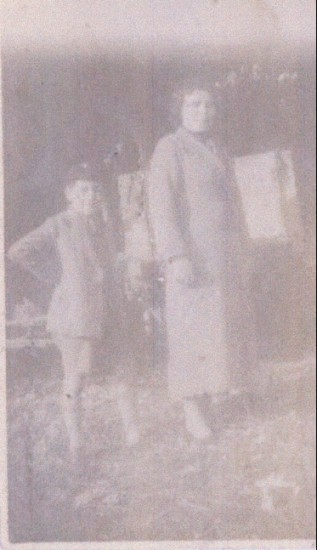 Mrs. Rossi and Antony Carini in about 1940.
