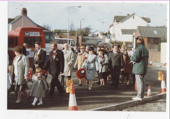 Rememberance Day procession, Brynmawr
