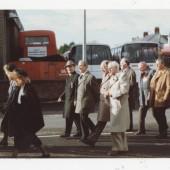 Rememberance Day memorial procession, Brynmawr