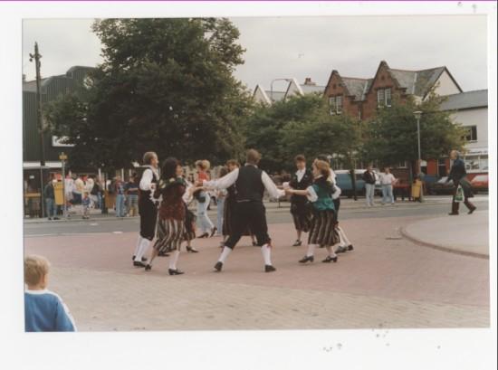 Dancing on Brynmawr Market Square
