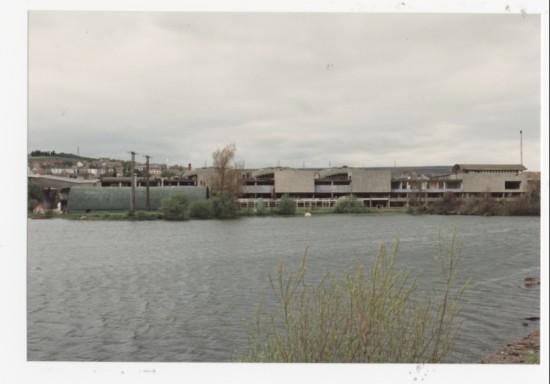 Semtex Factory and pond, Brynmawr