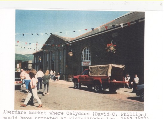 Aberdare Market where Celyddon (David C. Phillips) would have competed at Eisteddfoddau (ca. 1863 to 1873).