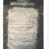 David Phillips died in 1862, aged 54, and is buried at Bethesda. His wife Martha died in 1874, aged 61. Their three children, Thomas, Martha, and Edward, died at the ages of 18, 12 and 18.