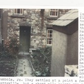 House in Nantyglo where Mary Evans and her family lived before they went to America.