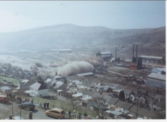 Demolition of Ebbw Vale Steel Works