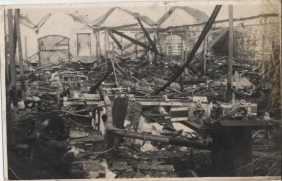 Fire at Brynmawr Furniture Factory