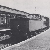 A LNWR 0.8.0 runnig tender first on a Merthyr train