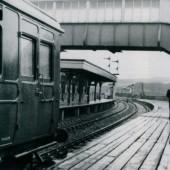 Merthyr train on a damp day