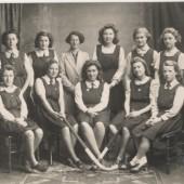 Brynmawr County School Girls' Hockey Team, 1940s