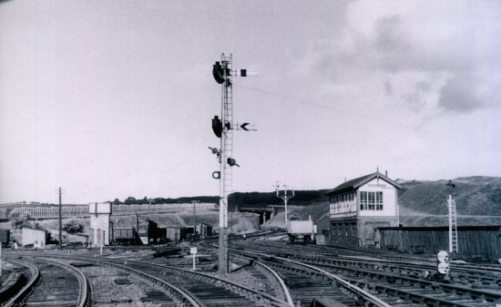 Goods Yard looking from station in the direction of the Blaenafon line
