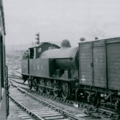 A Beams 0.8.4 Tank Engine shunting in the yard at Brynmawr