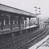 The Abergavenny Platform on a damp day