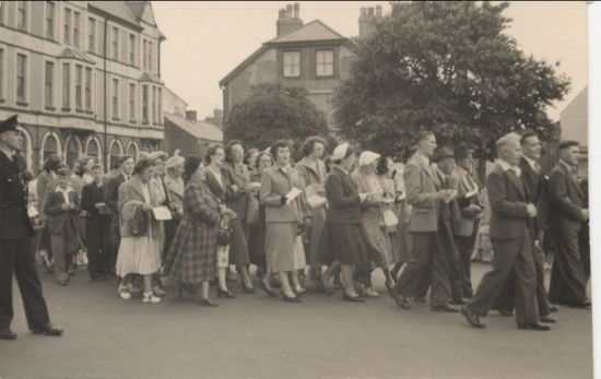 Calvary Sunday School Walk, 1950s