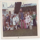 Eifion Lloyd Davies with his class, c. 1974