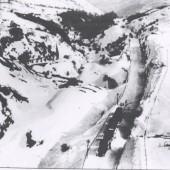 Clydach Gorge.4Trains stuck in Drift