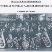 Brynmawr Silver Band winners of the Welsh National Eisteddford in 1935