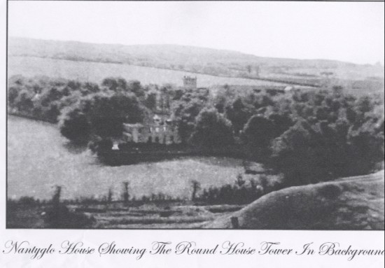 Nantyglo House Showing the Round House Tower