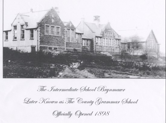 Brynmawr Intermediate School Later to become Brynmawr County Grammar School ,now the site of St.Mary's V.P School