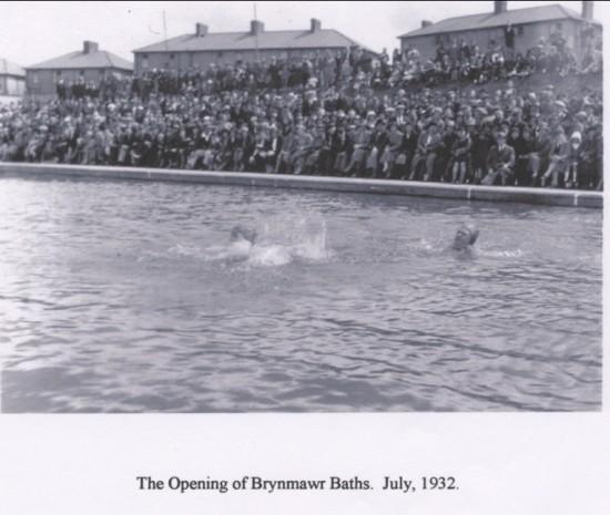 Brynmawr Baths Opening July,1932
