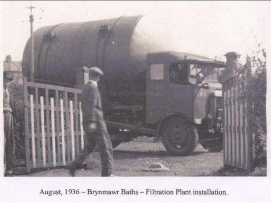 Brynmawr Baths Filtration Plant  Installation Aug,1936