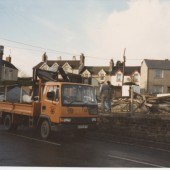 Demolition of old Ambulance Hall Brynmawr