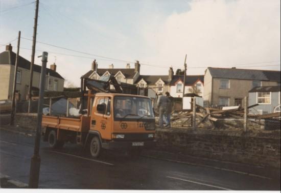 Demolition of old Ambulance Hall Brynmawr
