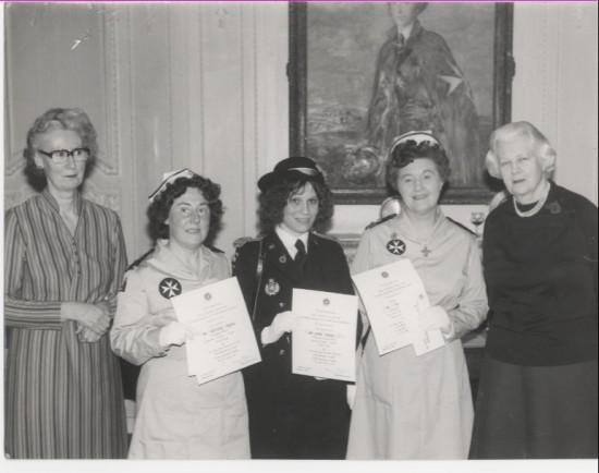 Award winners for the St.Johns Ambulance nursing bursaries.