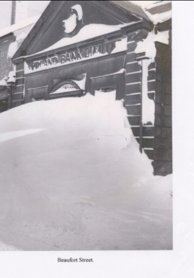 Blizzard of 1947 Midland Bank Brynmawr