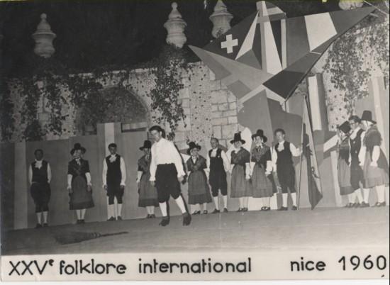 Brynmawr Welsh Folk Dancers in Nice(France) August,1960