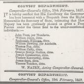 Convict Department Zephanniah Williams