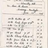 Order from Rev.R.Lewis Vicar Nantyglo