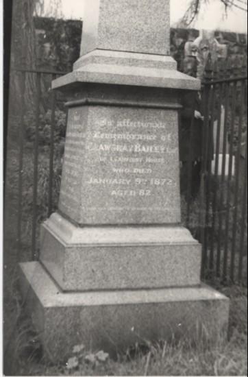 Crawshay Bailey's Tomb stone
