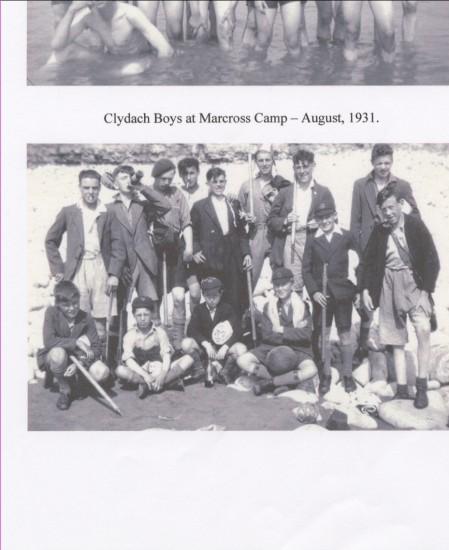 Clydach boys in camp