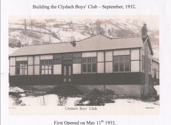 Opening of Clydach Boys Club 11thMay.1933