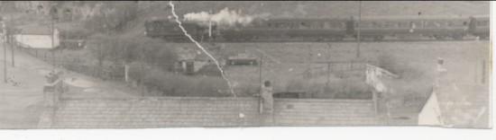 Last Steam Train from Brynmawr near to Nantyglo signal box