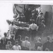 Funeral of Seaman.Eddie.Kershaw at Sea