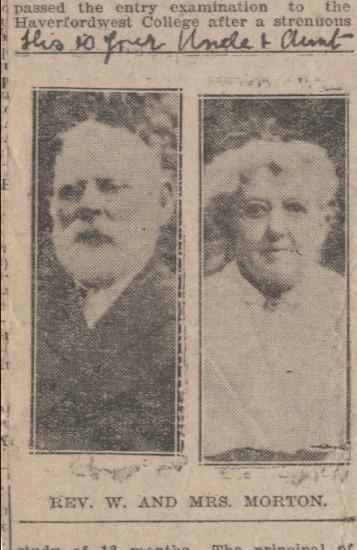 Rev.and Mrs. W.Morton