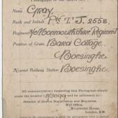 Grave registration Certificate