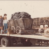 Dram of coal being taken to St. Fagans