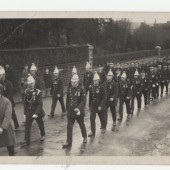 Brynmawr Fire Brigade and unveiling of War Memorial, 1927