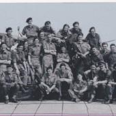Gunner Rowan Williams and members of 70th HAA, Royal Artillery, 1947.