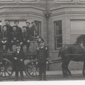 Horse drawn fire engine