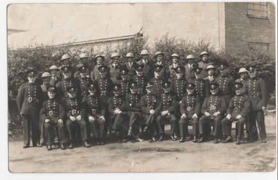 Brynmawr fire brigade and air raid wardens during World War 2