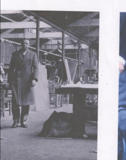 Graham G. Churchward at Brynmawr furniture factory