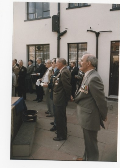 V.E Day memorial service in 1985, 40 years on, in Brynmawr