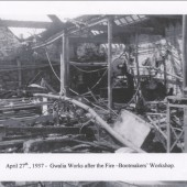 Bootmakers workshop after the fire at the Gwalia Works