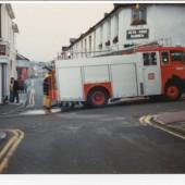 A fire engine in Brynmawr town
