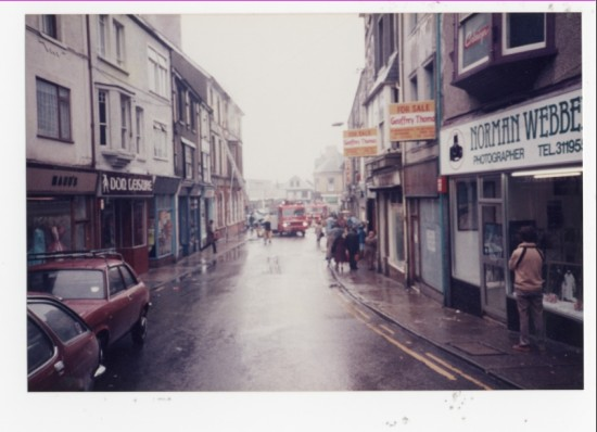 A fire in Bailey Street, Brynmawr