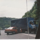Lorry tried a U Turn,heads of the valley road.